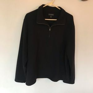 Banana republic black fleece half zip pullover XL